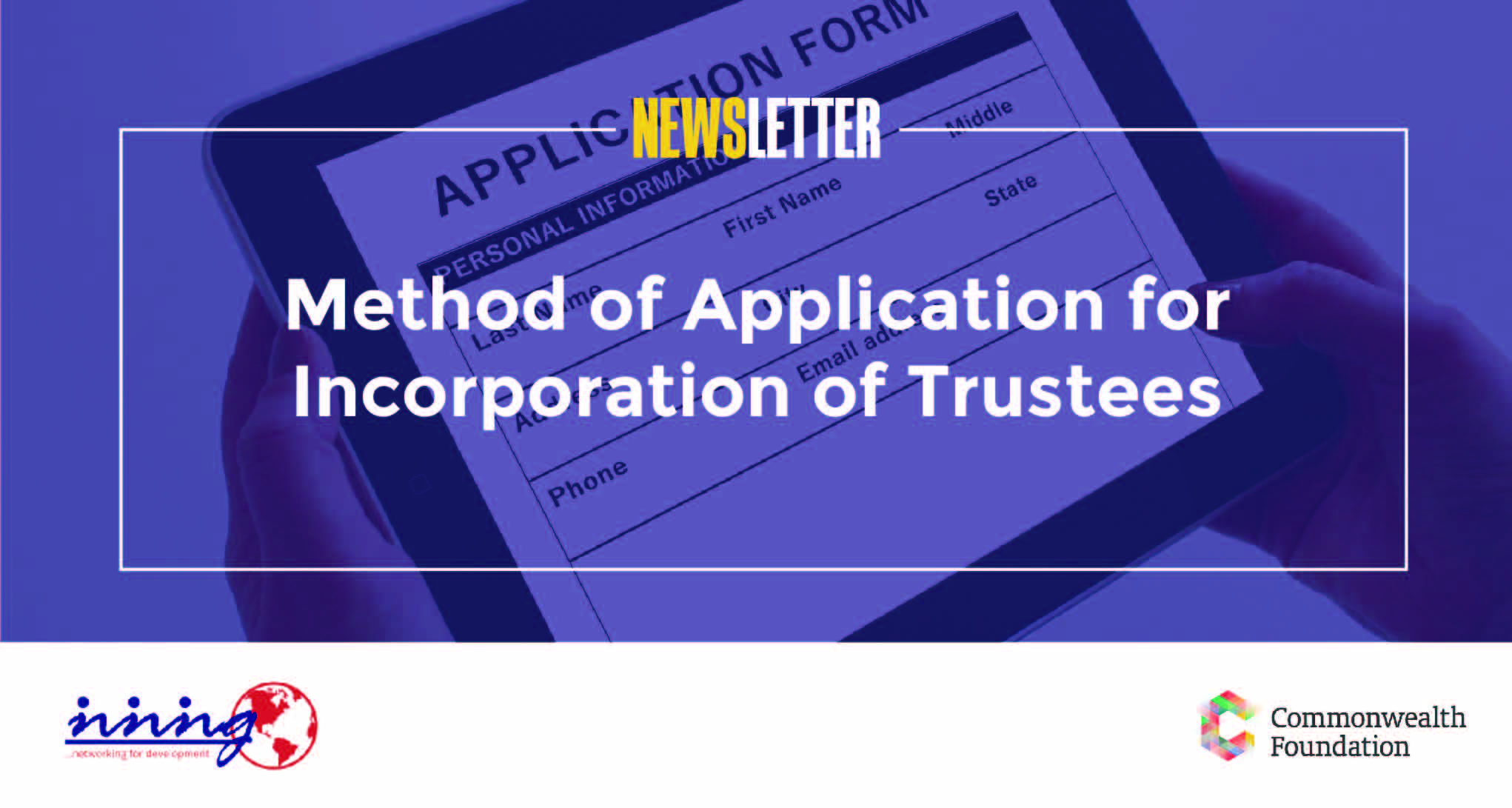 Method of Application for Incorporation of Trustees (April, 2019)